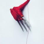 2. Hendiwork, 2008, noževi, konac, 19 x 10 x 5 cm